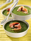 creamed pea soup with bacon