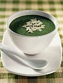 broccoli and Bleu de Bresse cheese soup