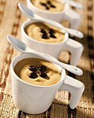 chilled coffee mousse