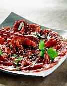 Corean beef carpaccio