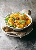 pumpkin, apple, rocket and walnut salad