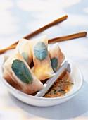 Crab spring rolls