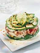 Avocado and crab entrée