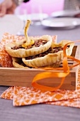 Flaky pastry mushroom tartlets