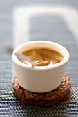 Crème brûlée with coffee