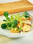 warm octopus salad with vegetables