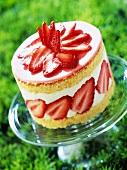 strawberry cream cake (topic: strawberries)