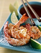 Gambas with coconut