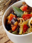 Ratatouille salad with olive oil