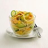 Fettucelli with prawns