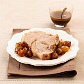 Fillet of pork with onions