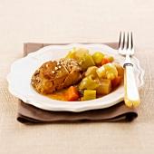 roast goose liver casserole