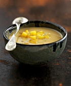 cider and caramelized apple soup