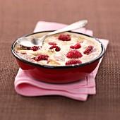 Raspberry and vanilla bake