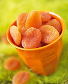 Cup of dried apricots
