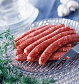 Raw chipolatas sausages
