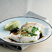 Cod fillet with balsamic vinegar sauce