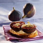 Figs and roquefort on toast