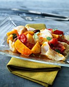 Cod and southern vegetable salad