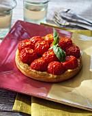 Cherry tomato tartlet