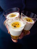 Yoghurt jelly with passionfruit