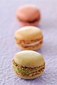 Verschiedenfarbige Macarons