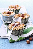 Individual apple crumbles