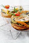 Vegetable tatin tart