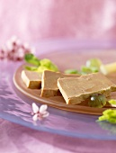 Slices of foie gras