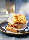 Chorizo savoury waffles