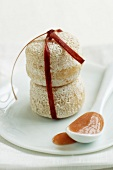 Crottins de chavignol with rhubarb coulis