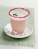 Rhubarb and rose smoothie