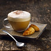 Cappuccino and congolais cookies