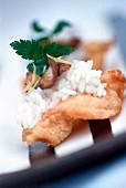 Sushi-style prawn tempura