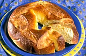 Pogne (yeast dough wreath with orange blossom water, France)