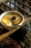 Gratinated confectioner's cream with star anise