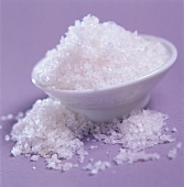 Bowl of coarse sea salt
