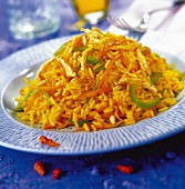 Rice and spicy vegetables