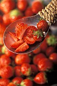 Strawberries, whole and sliced
