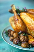 guinea fowl stuffed with chestnuts