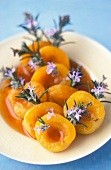 Apricots with rosemary