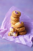 Mini lavender shortbread cookies