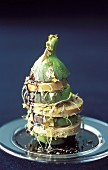 Fig and goose liver millefeuille
