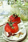 Poached spiced tomatoes
