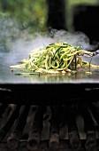 spaghetti and zucchini plancha