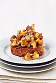 Wild mushrooms on toasted brioche