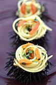 Spaghetti with sea urchins