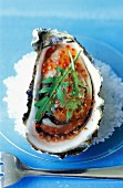 Oyster in jelly with trout roe