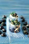 Sardine rolls with snails