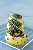 Ratte potatoes with seaweed tartare